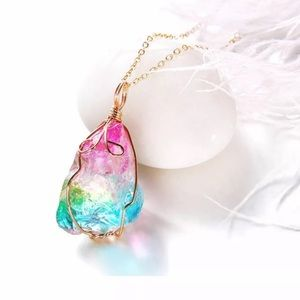 Rainbow Necklace. New!